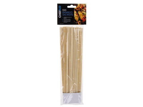 Chef Aid - Bamboo Skewers 10in x100 Skewers | Snape & Sons