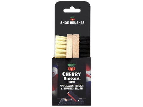 Cherry Blossom - Shoe Brush Twin Pack Shoe Polish & Cleaners | Snape & Sons