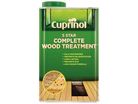 Cuprinol - 5 Star Wood Treatment 1l Woodworm Killers | Snape & Sons