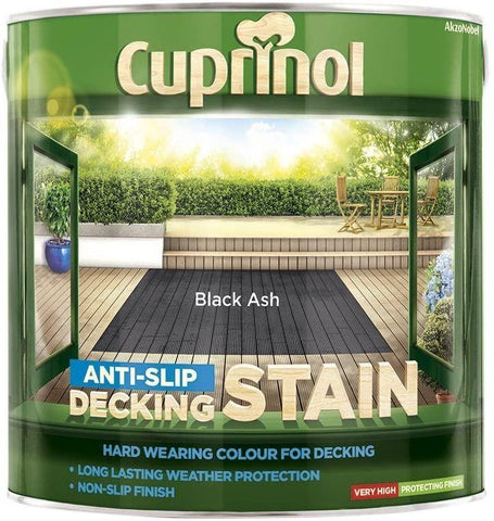 Cuprinol - AntiSlip Deck Stain Black Ash 2.5L Decking Care | Snape & Sons