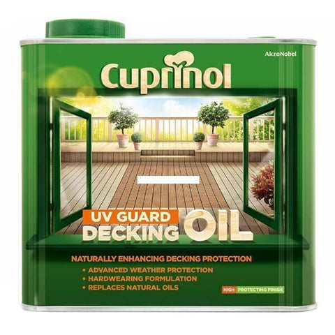 Cuprinol - Decking Oil Natural Oak 5L Decking Care | Snape & Sons