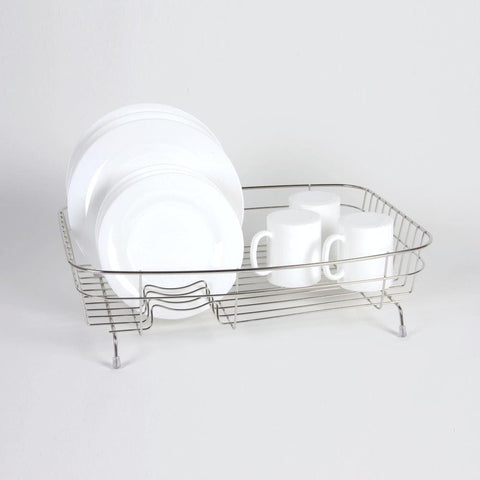 Delfinware Wireware - Large Oval Dish Drainer Stainless Steel Dish Draining Racks | Snape & Sons