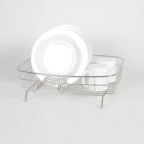 Delfinware Wireware - Oval Flat Stainless Steel Dish Drainer Dish Draining Racks | Snape & Sons