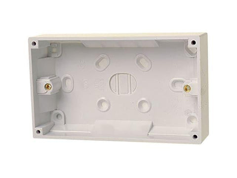 Dencon - 2 Gang 32mm Surface Pattress Back Box Back Boxes | Snape & Sons