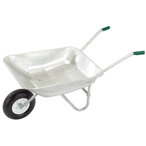 Draper Tools - Galvanised Wheelbarrow 65ltr Wheelbarrows | Snape & Sons