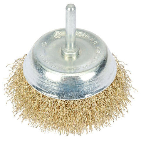 Draper Tools - Hollow Wire Cup Brush 50X6.0m Wire Brushes | Snape & Sons