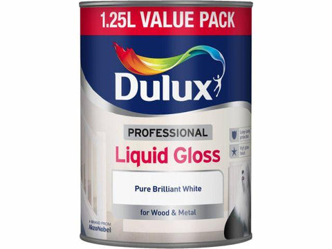 Dulux - Liquid Gloss White 1.25L Interior Wood & Metal Paints | Snape & Sons