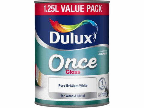 Dulux - Once Gloss White 1.25L Interior Wood & Metal Paints | Snape & Sons