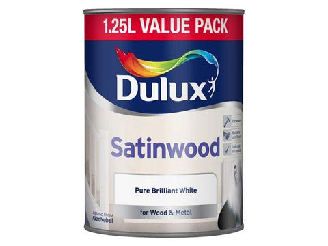Dulux - Satinwood White 1.25L Interior Wood & Metal Paints | Snape & Sons