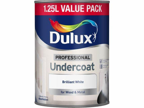 Dulux - Undercoat White 1.25L Interior Wood & Metal Paints | Snape & Sons