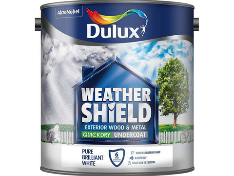 Dulux - Weathershield Undercoat White 2.5l Exterior Wood & Metal Paints | Snape & Sons