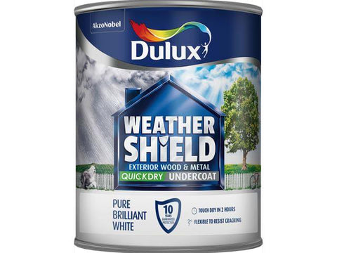 Dulux - Weathershield Undercoat White 750ml Exterior Wood & Metal Paints | Snape & Sons