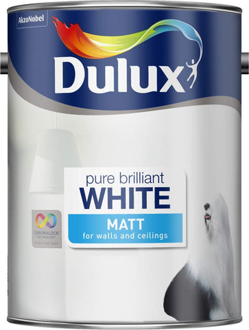 Dulux - White Matt Emulsion 3L Emulsion Paints | Snape & Sons
