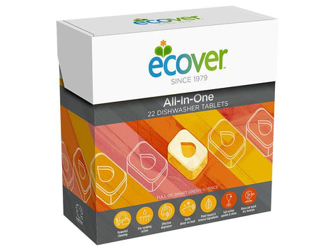 Ecover - All In One Dishwasher Tabs x 22 Dishwasher Tablets | Snape & Sons