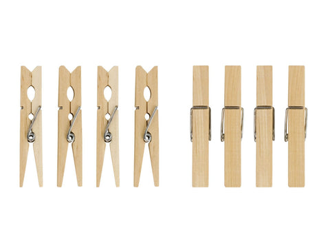 Elliott - Wooden Spring Clothes Pegs x36 Hardwood Pegs | Snape & Sons