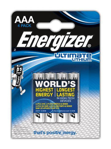 Energizer - Ultimate Lithium AAA x4 Pencil Batteries | Snape & Sons