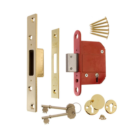 Era Locks - Fortress 5 Lever Deadlock Brass 76mm Deadlocks | Snape & Sons