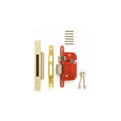 Era Locks - Fortress 5 Lever Sash Lock Brass 64mm Sashlocks | Snape & Sons