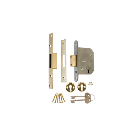 Era Locks - Viscount 5 Lever Deadlock Brass 64mm Deadlocks | Snape & Sons