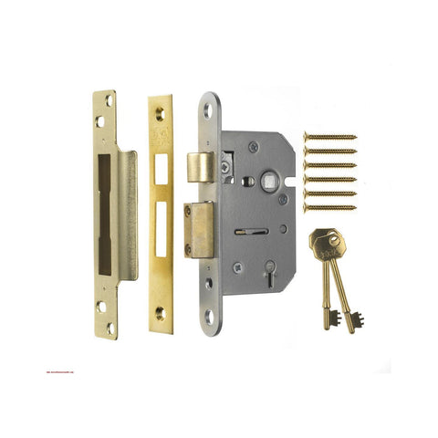 Era Locks - Viscount 5 Lever Sash Lock Brass 64mm Sashlocks | Snape & Sons