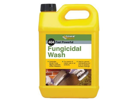 Everbuild - 404 Fungicidal Wash 5Ltr Mould & Mildew Cleaner | Snape & Sons