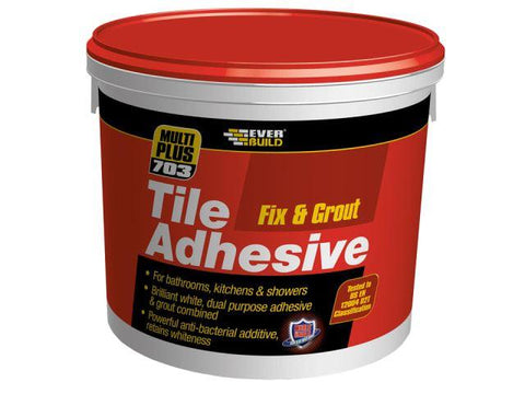 Everbuild - 703 Fix & Grout Tile Adhesive 500ml Tile Adhesive & Grouts | Snape & Sons