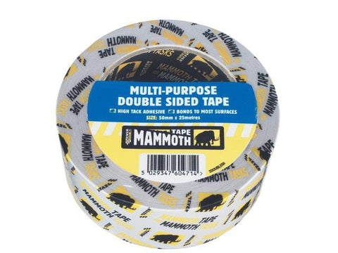 Everbuild - Mammoth Double Sided Tape 50mm x 5m Double Sided Tape | Snape & Sons