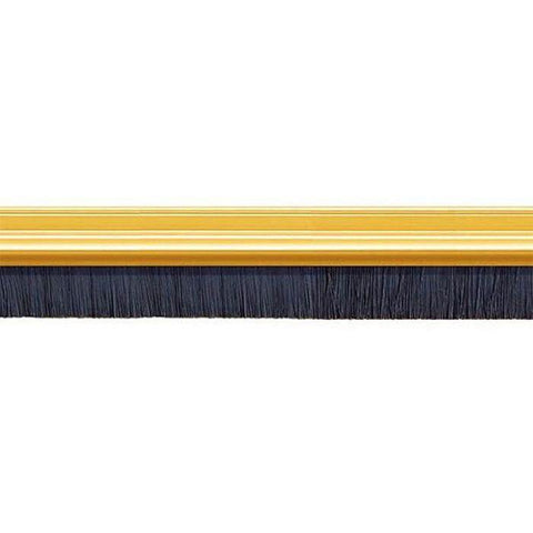 Exitex - Door Brush-strip Brass 914mm Draught Proofing | Snape & Sons