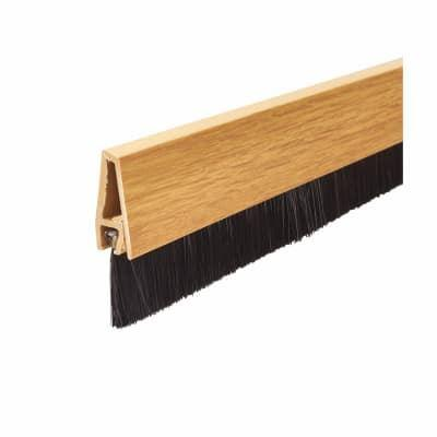Exitex - Door Brushstrip Light Oak 914mm Draught Proofing | Snape & Sons