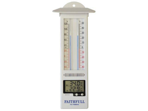 Faithfull Tools - Max Min Digital Thermometer Room Thermometers | Snape & Sons