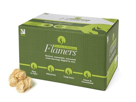 Flamers - Natural Firelighters Bulk Box x200 Firelighters | Snape & Sons
