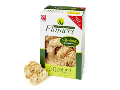 Flamers - Natural Firelighters x50 Firelighters | Snape & Sons
