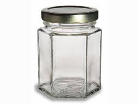 Freeman - Hexagon Jar 8oz Jam Jars | Snape & Sons