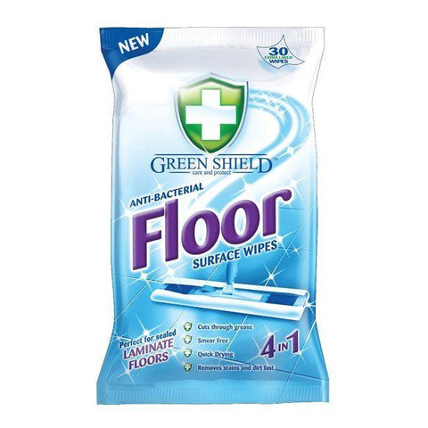 GreenShield - 4-in-1 Anti-Bacterial Extra Large Floor Wipes x30 Wet Wipes | Snape & Sons