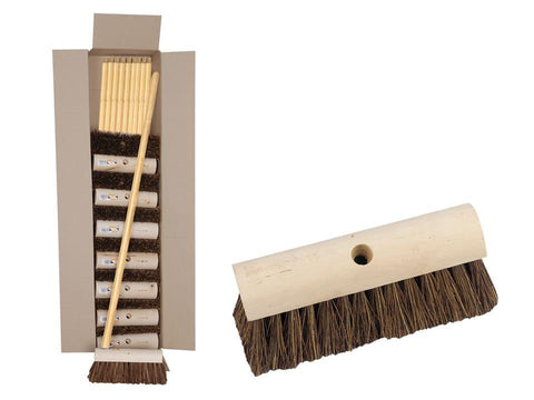Hills Brush - Coco Yard Broom 10in Brooms | Snape & Sons