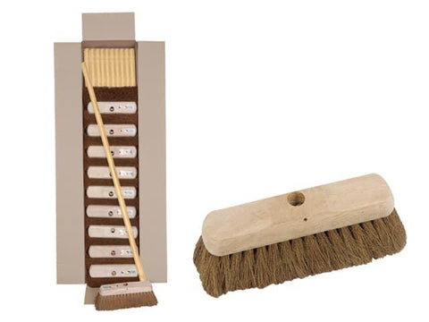 Hills Brush - Natural Coco Broom 10in Brooms | Snape & Sons