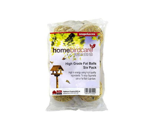 Home Birdcare - Everyday Fat Balls x6 Fat Balls & Suets | Snape & Sons