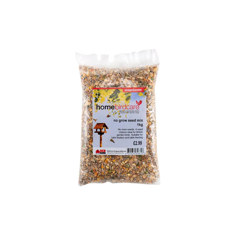 Home Birdcare - No Grow Seed Mix 1kg Bird Seed Mixes | Snape & Sons