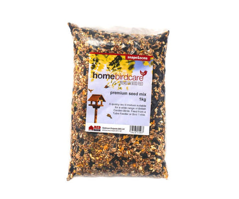 Home Birdcare - Premium 11 Seed Mix 1kg Bird Seed Mixes | Snape & Sons