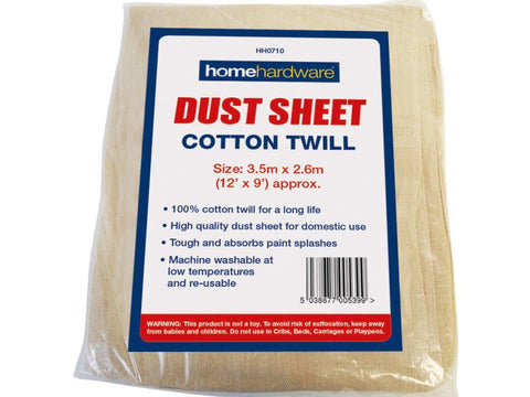 Home Hardware - Cotton Dust Sheet 12 x 9ft Dust Sheets | Snape & Sons