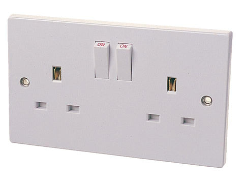 Home Hardware - Double Switched Socket Plate Switched Socket Plates | Snape & Sons