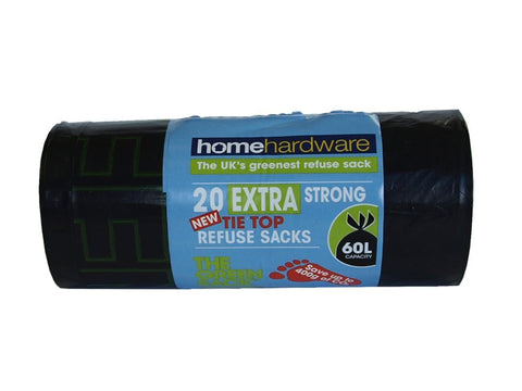 Home Hardware - Extra Strong Tie Top Refuse Sacks x20 Refuse Sacks | Snape & Sons
