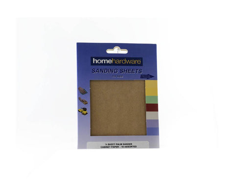 Home Hardware - HH Cabinet Paper Small x10 Sanding Sheets | Snape & Sons