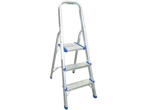 HomeValue - Aluminium Step Ladder 3 Step Step Ladders | Snape & Sons