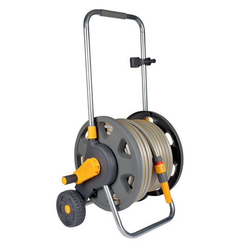 Hozelock - Hose Reel Cart +30m Hose + FREE 2674 Spray Gun Hose Reels | Snape & Sons
