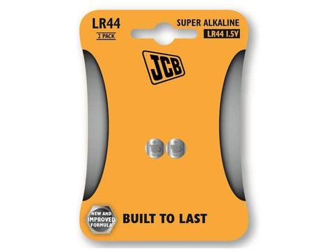 JCB - LR44 1.5V Button Cell x2 Button Cell Coin Batteries | Snape & Sons