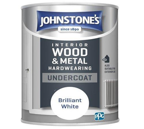 Johnstone's - All Purpose Undercoat White 2.5l Interior Wood & Metal Paints | Snape & Sons
