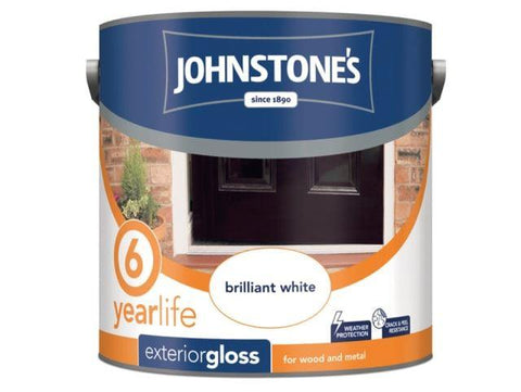 Johnstone's - Exterior Gloss Black 2.5l Exterior Wood & Metal Paints | Snape & Sons