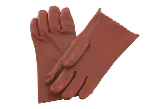 Kent & Cardoc - PVC Gauntlet Glove 8.5in Red Rubber Gloves | Snape & Sons