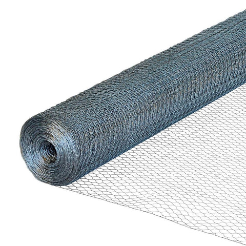 Kestrel - 13mm Galvanised Chicken Wire Netting 10m x 600mm Wire Mesh | Snape & Sons